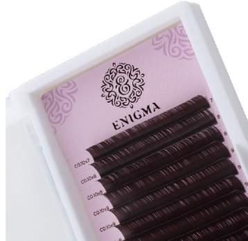 Черные ресницы Enigma, 16 линий, 08 D 0.10