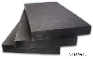 Техпластина для дорожной техники 500х250х40мм (металлический корд)