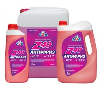 Антифриз Z40 Красный готовый к применению AGA 10 кг