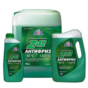 Антифриз Z42 Зеленый готовый к применению AGA 10 кг